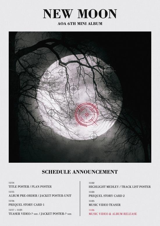 AOA, 컴백 플랜 포스터 공개…5인조로 변신